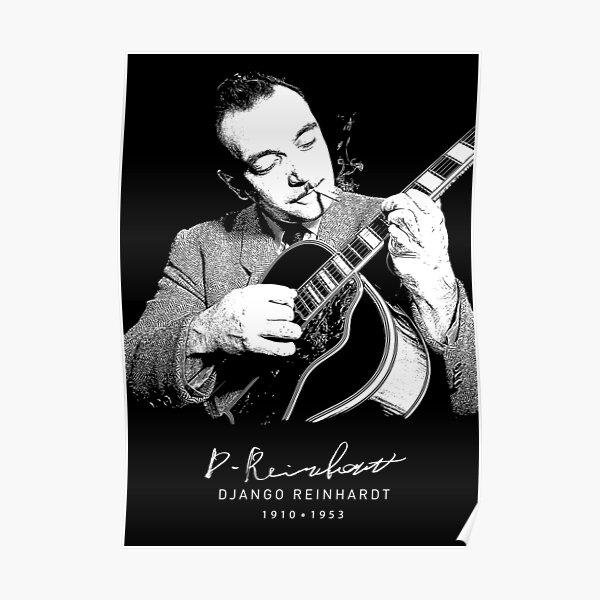 DJANGO REINHARDT GIBSON 1946 PRINT POSTER SIZE PHOTO GUITARRIST JAZZ