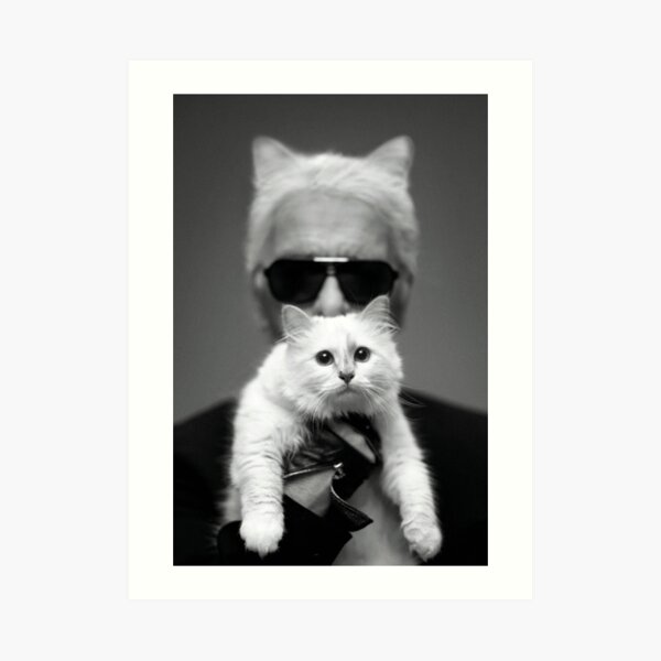 Karl with Choupette Art Print