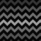 Dark Grey Gradient Chevron by TimorousEclectc