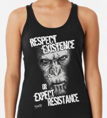 VeganChic ~ Respect Existence Racerback Tank Top
