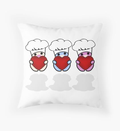STPC: Three Chibis (Lubba Lubba Lubba Chefs) Floor Pillow