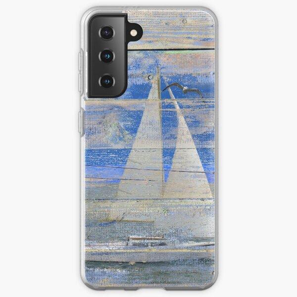 Sailboat Sailing Beach House Lake House Print Coastal Art A462 Samsung Galaxy Soft Case