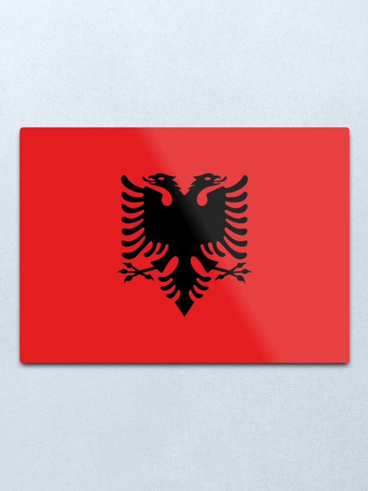 Alternate view of Flag of Albania Metal Print