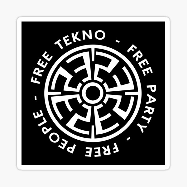 23FT002 - Tekno 23 personnes gratuites tekno free party Sticker