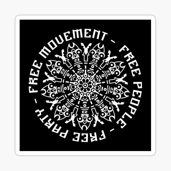 23FT010 - Tekno 23 libre circulation libre people free party Sticker