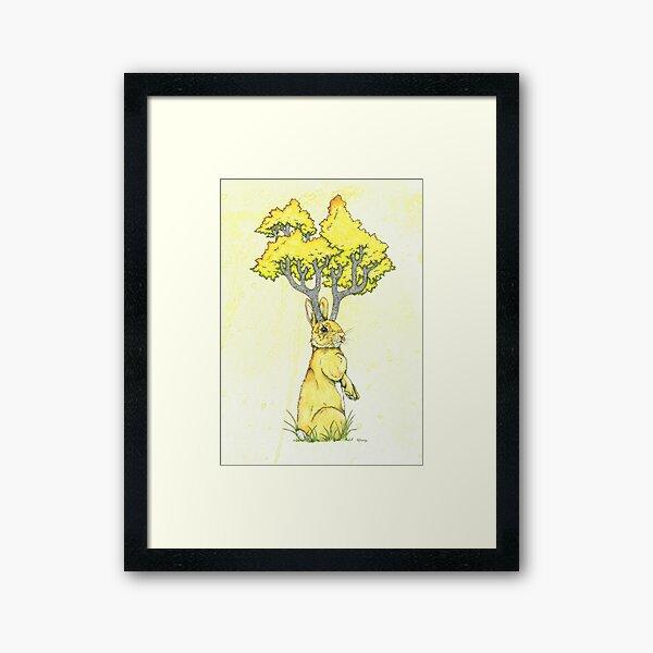 Woodland Hare Framed Art Print