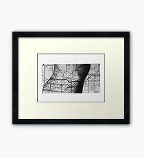 Body Maps - Tube Map - Torso Framed Print