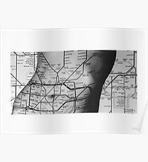 Body Maps - Tube Map - Torso Poster