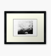Body Maps - Mixed Maps - Neck Framed Print