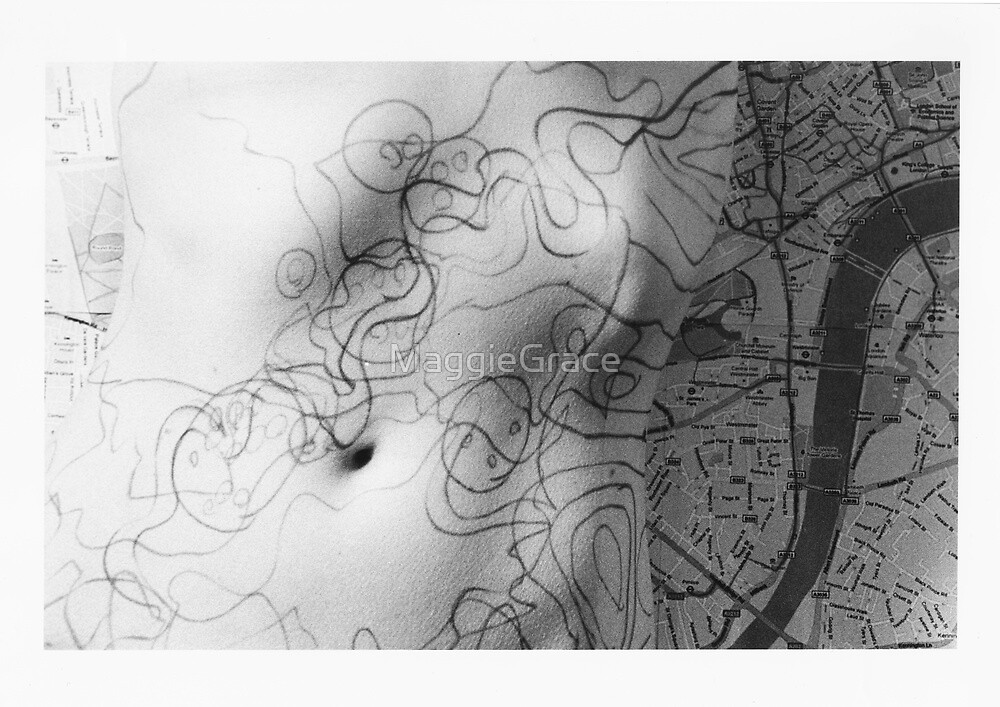 Body Maps - Mixed Maps - Torso by MaggieGrace