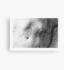 Body Maps - Mixed Maps - Torso Canvas Print