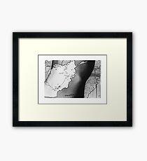 Body Maps - Afghanistan - Torso Framed Print