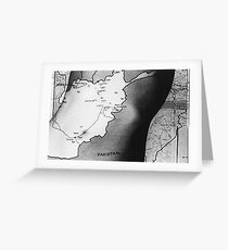 Body Maps - Afghanistan - Torso Greeting Card
