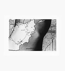 Body Maps - Afghanistan - Torso Photographic Print