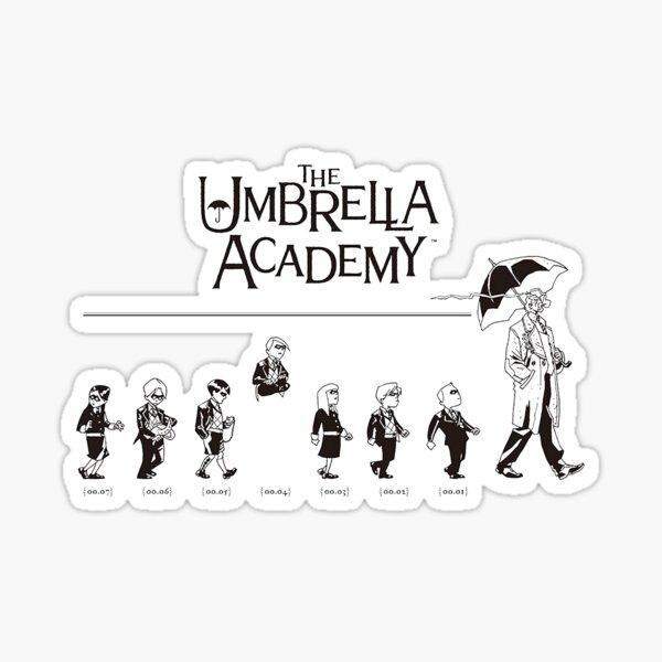 La academia de paraguas Pegatina