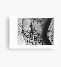 Body Maps - Windsor - Back Canvas Print