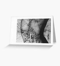 Body Maps - Windsor - Back Greeting Card
