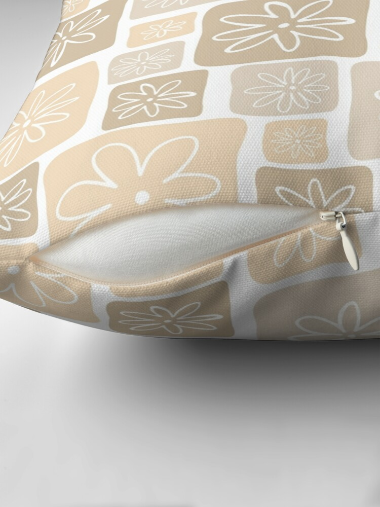 Alternate view of Handdrawn Flower Box Throw Pillow