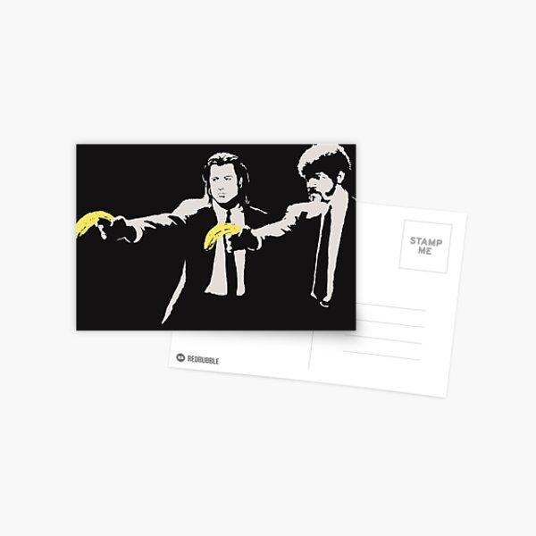 Banksy, Hommage à AWarhol, Banane et Quentin Tarantino, Reproduction d'œuvres d'art, Affiches, Estampes, Sacs, Tasses, Cartes postales, T-shirts, Hommes, Femmes, Enfants Carte postale