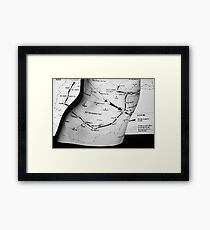 Body Maps - Afghanistan Routes - Torso Framed Print