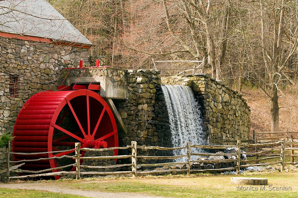 New England Grist Mill I by Monica M. Scanlan