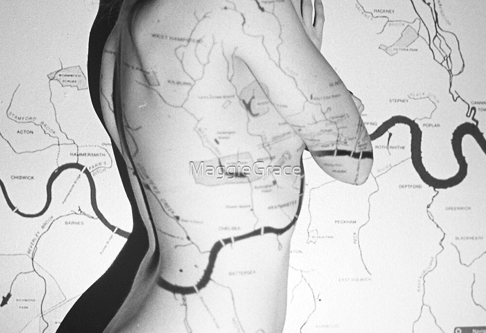 Body Maps - London Rivers - Back by MaggieGrace