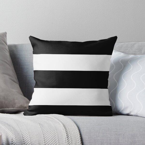 Black and white modern stripe pattern Throw Pillow