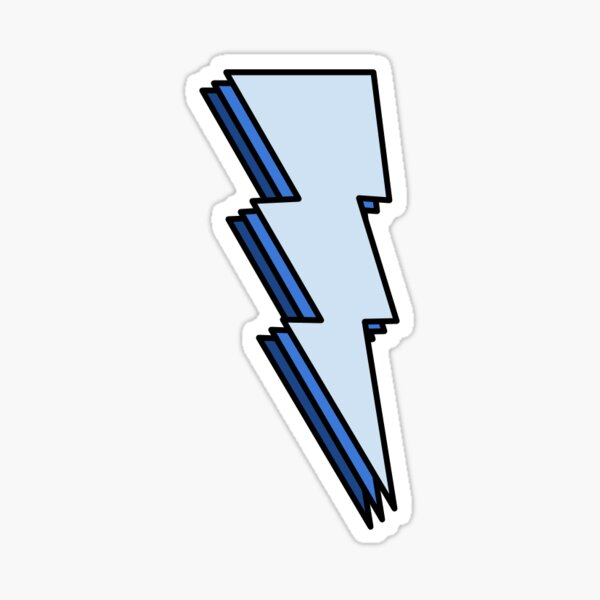 Lightning Bolt- Blue Sticker