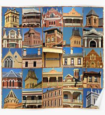 Queenscliff Architecture Collage Poster