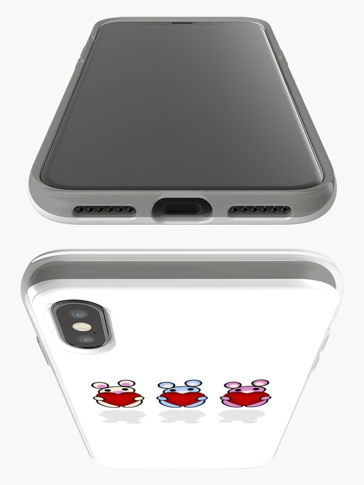 Alternate view of Three Chibis: Hearts iPhone Case & Cover