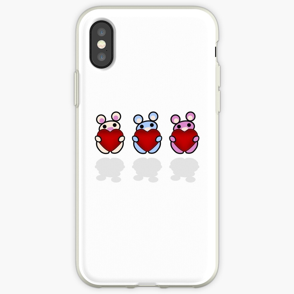 Three Chibis: Hearts iPhone Case & Cover