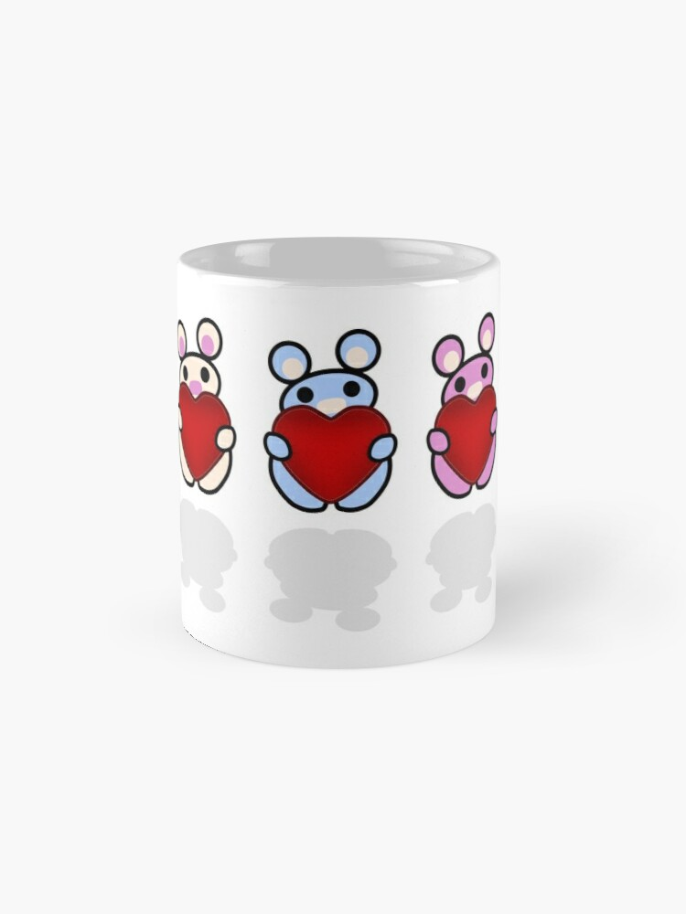 Alternate view of Three Chibis: Hearts Standard Mug