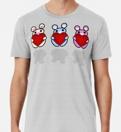 Three Chibis: Hearts Premium T-Shirt