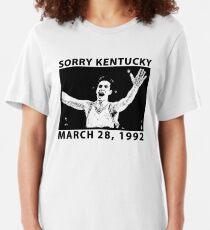 Sorry Kentucky - Christian Laettner  Slim Fit T-Shirt