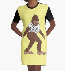 68c90487 Bigfoot Painting & Mixed Media Dresses | Redbubble