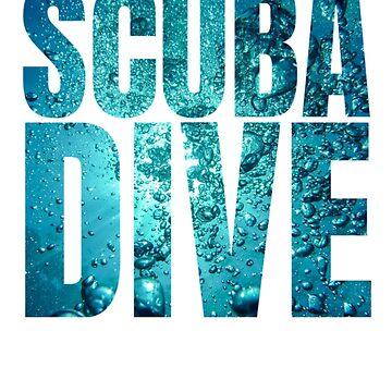 Scuba dive diver underwater world gift idea by Tengelmaker