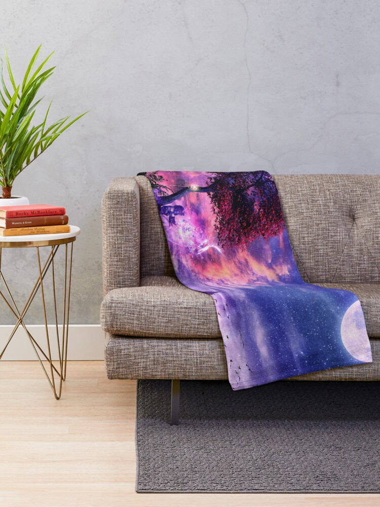 Alternate view of A Place For Fairy Tales Throw Blanket