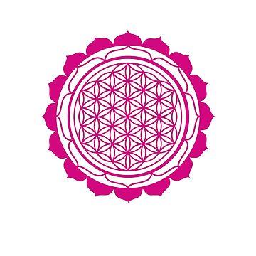 Mandala Flower of life Pink by DeLaFont