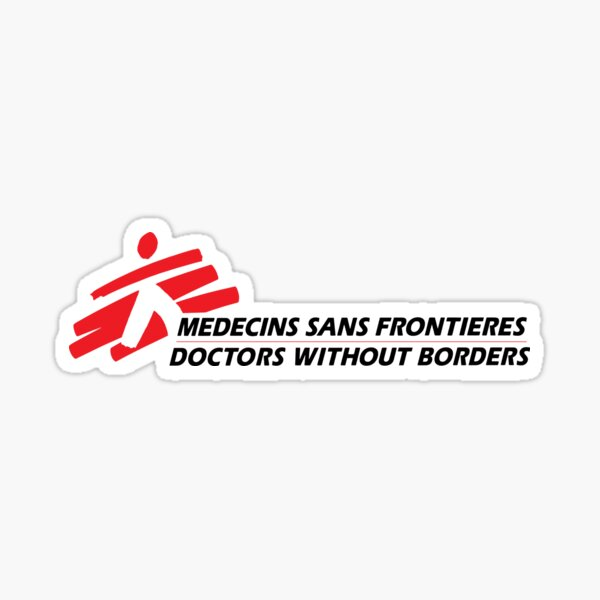 Outlined (Transparent) Doctors Without Borders Logo Sticker
