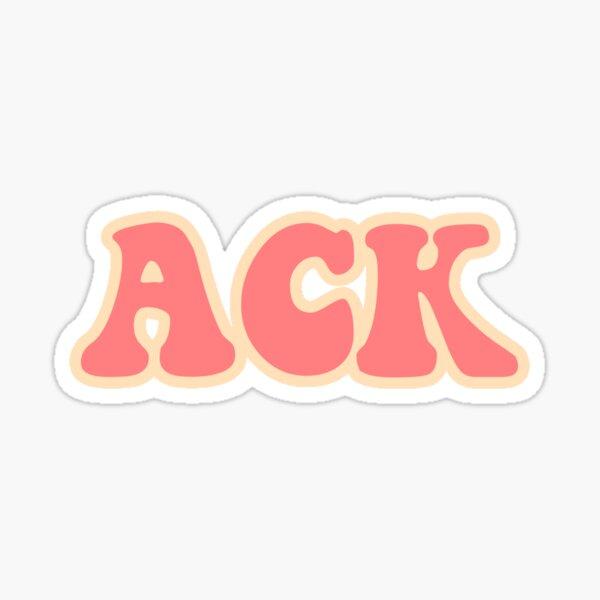 ACK Sticker
