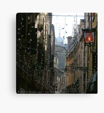 You Are Here - Venice in Christmas time Canvas Print