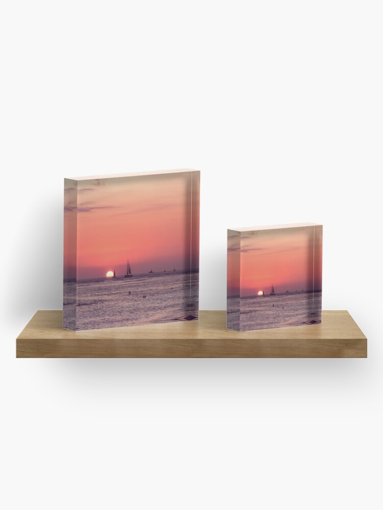 Alternate view of Sunset in Hawaii 0003 Acrylic Block