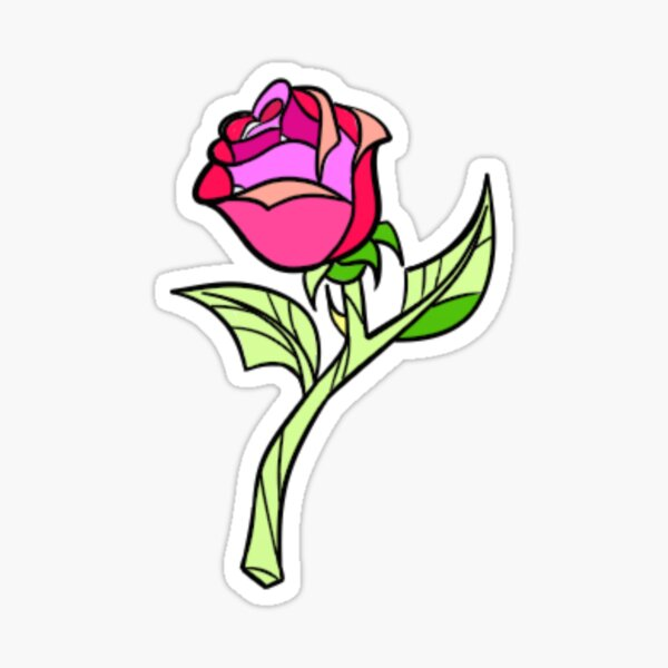 Beauty and the Beast's Enchanted Rose. Sticker
