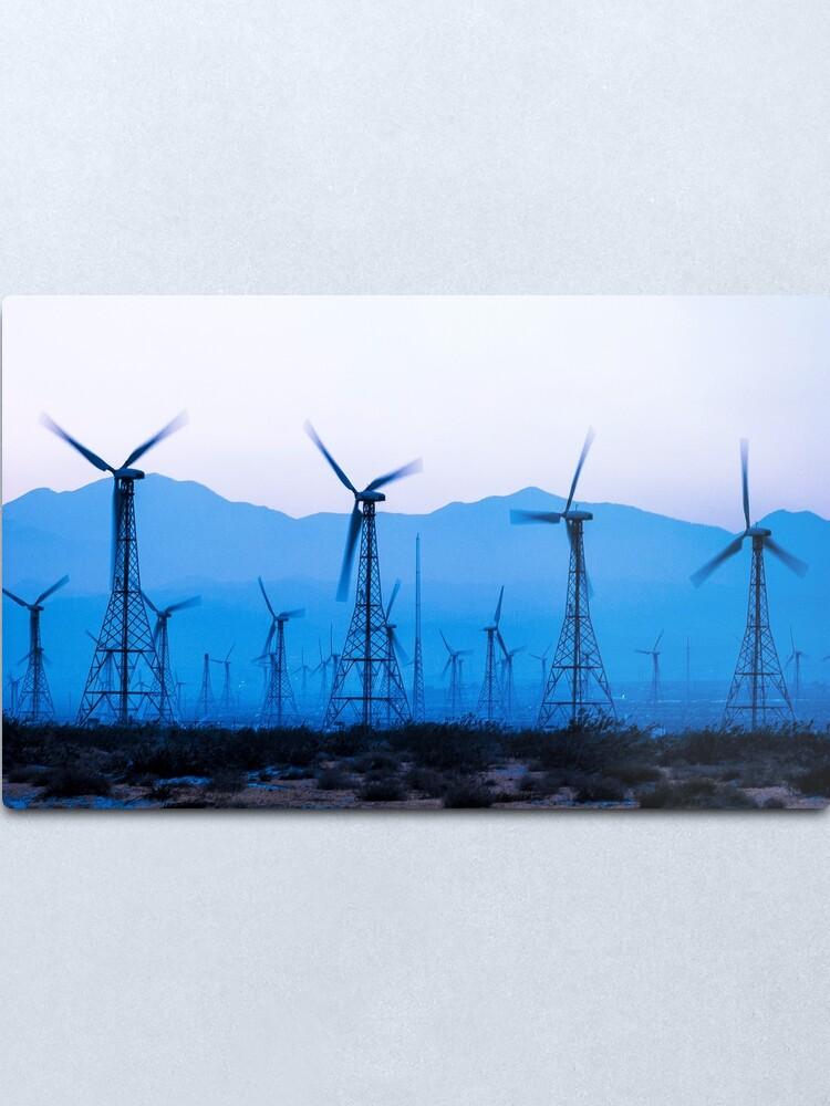 Alternate view of Blue Wind Energy 0286 Metal Print