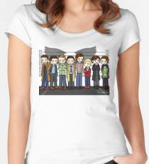 SuperWhoLock Lineup Women's Fitted Scoop T-Shirt