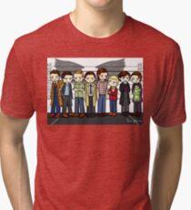 SuperWhoLock Lineup Tri-blend T-Shirt