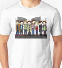 SuperWhoLock Lineup Unisex T-Shirt