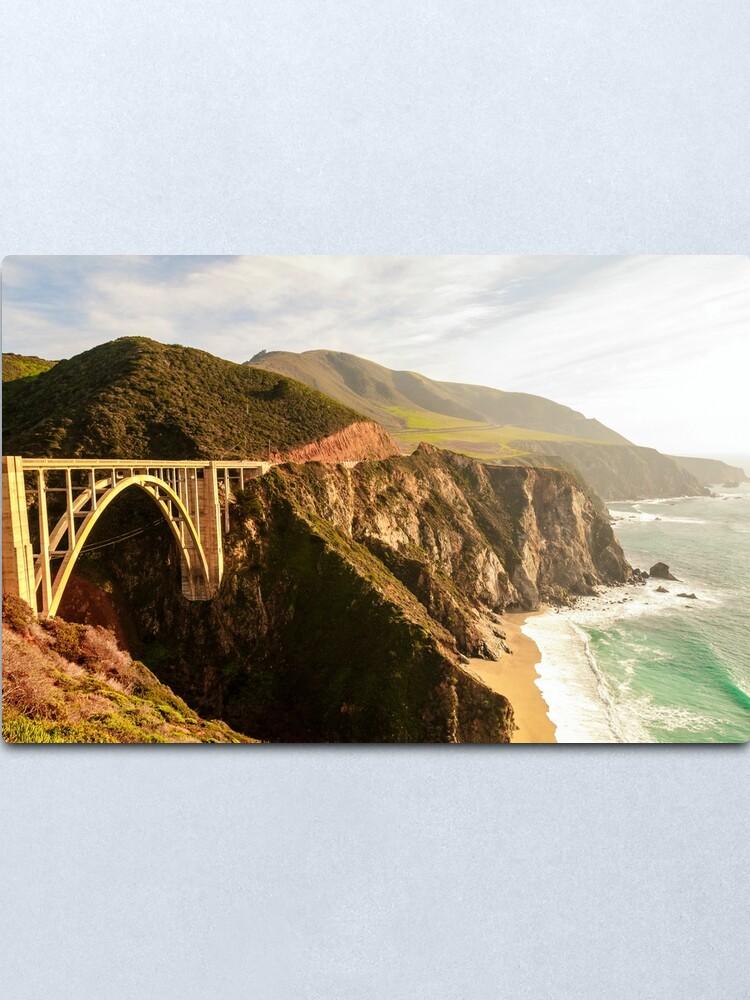 Alternate view of Bixby Bridge Big Sur California Pacific Coast Highway 0575 Metal Print