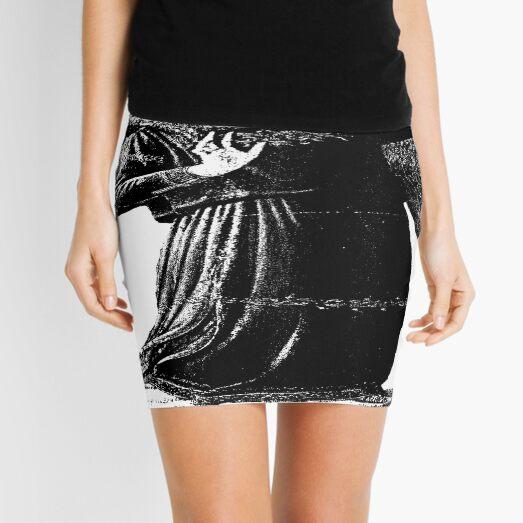 Angel with horn b&w  Mini Skirt