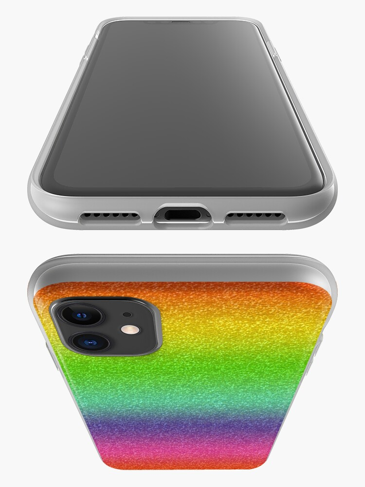 Alternate view of Rainbow Glitter Texture iPhone Case & Cover